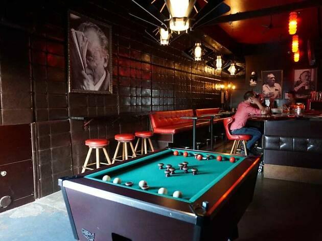 Charles Bukowski cocktail bar dive in Santa Monica Barkowski