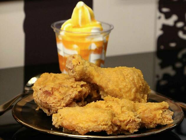 KFC 請食鹹蛋黃金雞翼及流沙黃金新地
