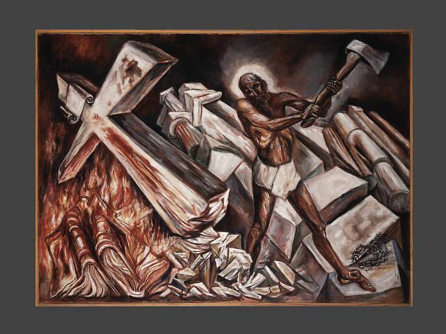 Cristo destruye su cruz de José Clemente Orozco en el Museo de Arte Carrillo Gil es nuestra pintura del mes