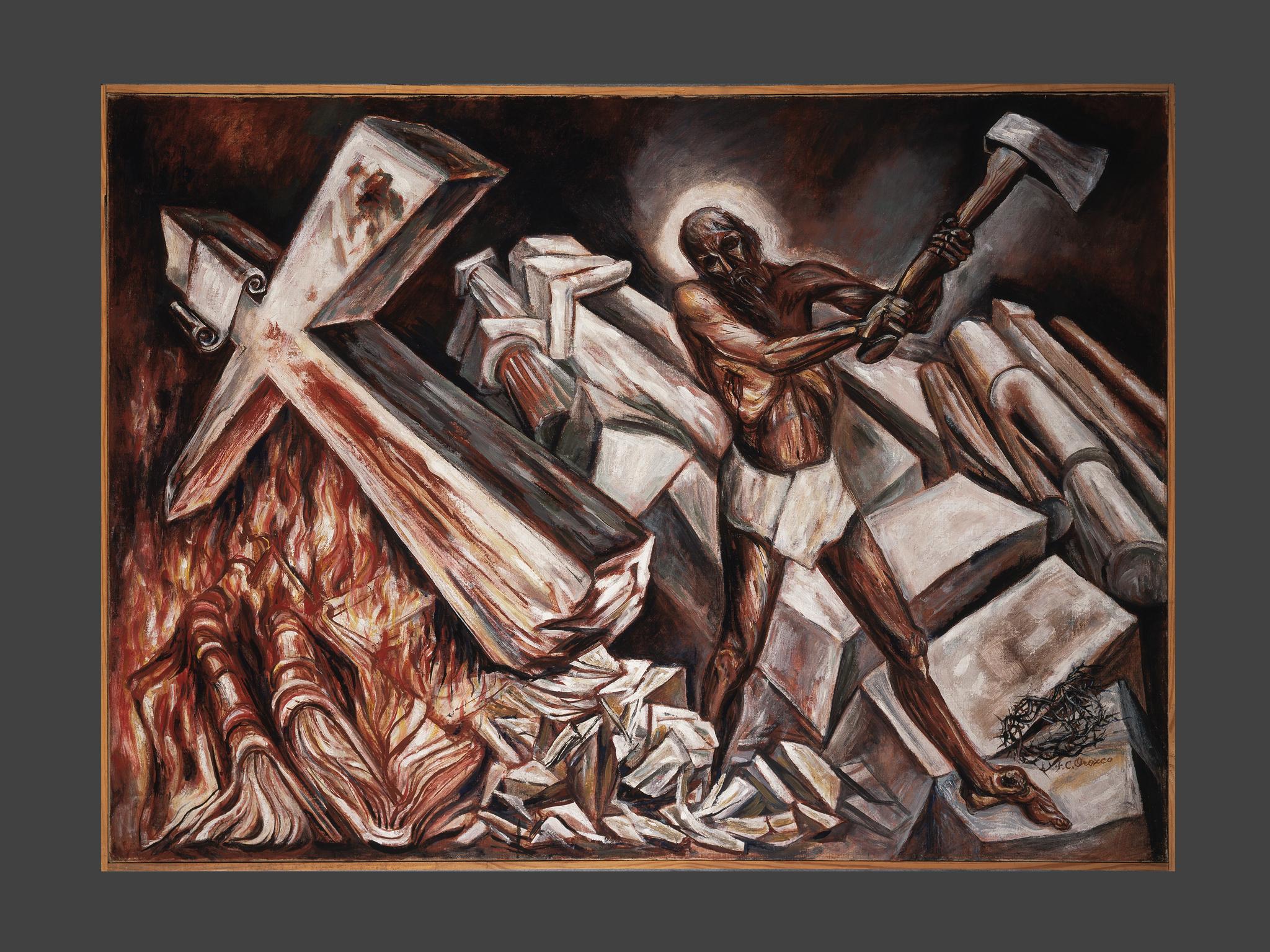 PINTURA DEL MES: Cristo destruye su cruz (1943), Orozco