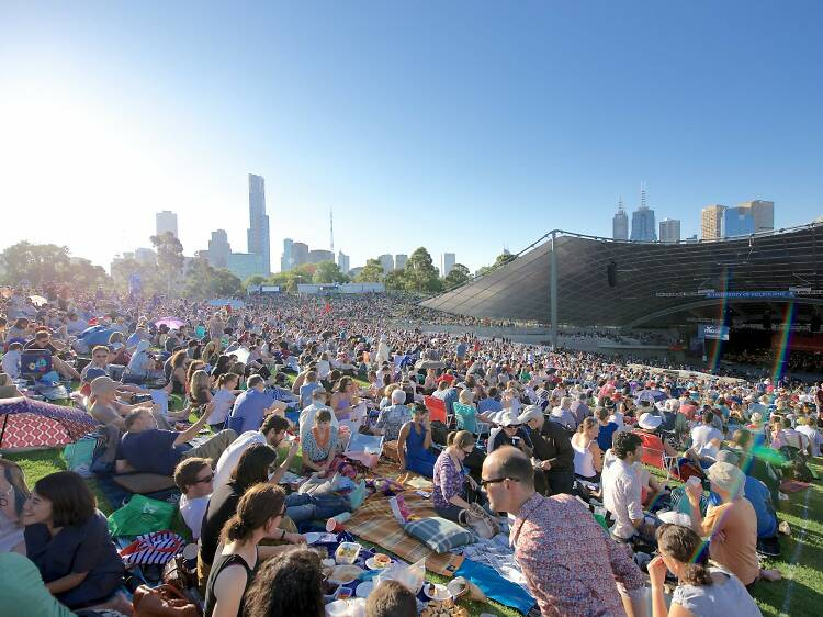 See a gig at the Sidney Myer Music Bowl