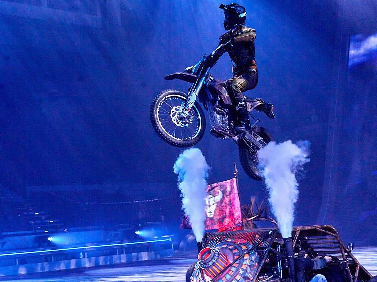 It's a death-defying stunt show