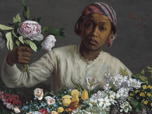 Frédéric Bazille, Young Woman with Peonies, French, 1841 - 1870, 1870, oil on canvas, Collection of Mr. and Mrs. Paul Mellon