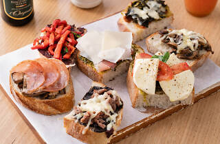 A variety of bruschetta