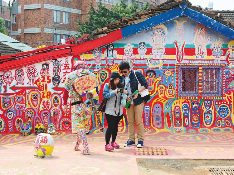 Entre num mundo de cor na Vila Arco-Íris de Taiwan