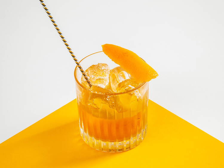 Dry Old Fashioned at Dishoom