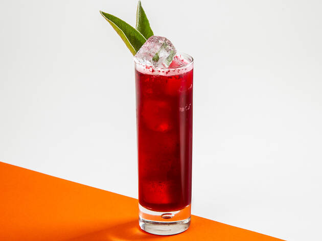alcohol free cocktails, glacier dark at every cloud