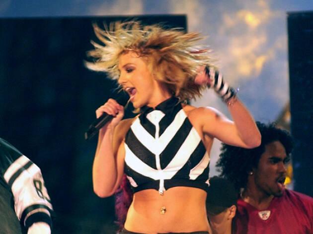 Britney Spears dancing.