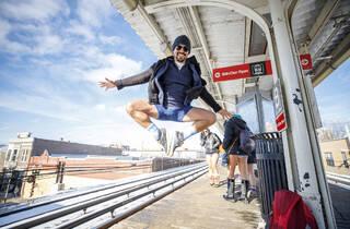 no pants subway ride 2019, grace duVal