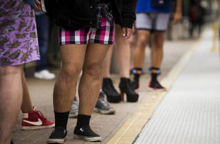Angelenos rode Metro in their undies during the No Pants Subway Ride