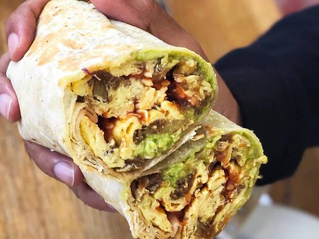Huckleberry Cafe best breakfast burrito Santa Monica