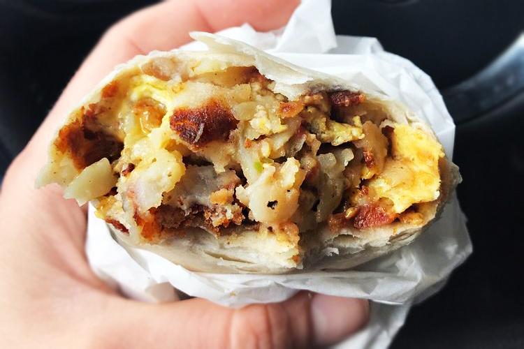 Burbank best breakfast burrito Corner Cottage