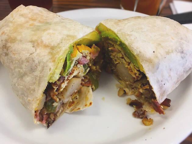 Nat's Early Bite Coffee Shop diner in Sherman Oaks breakfast burrito