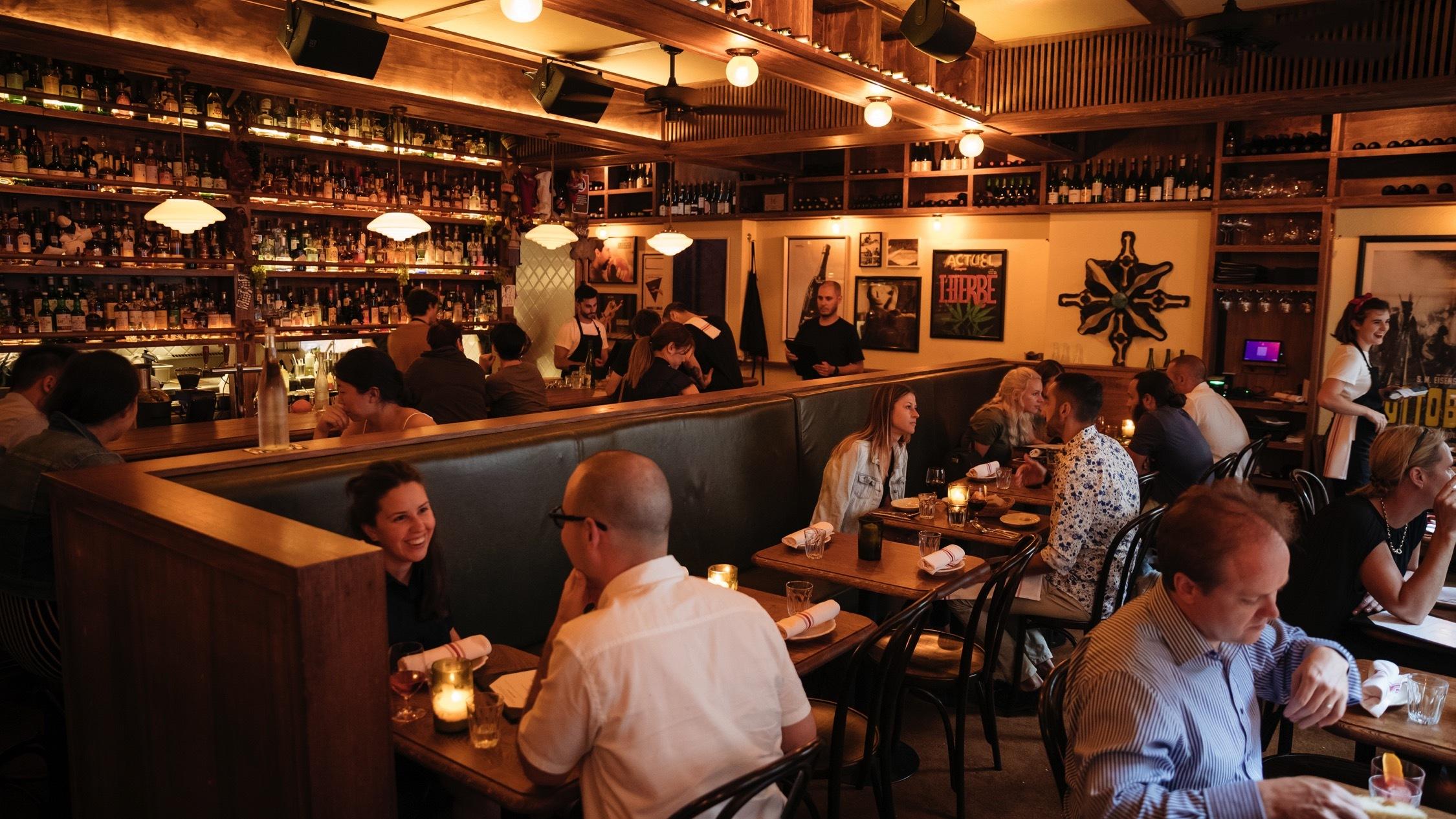 People sitting inside at Alberto's Lounge