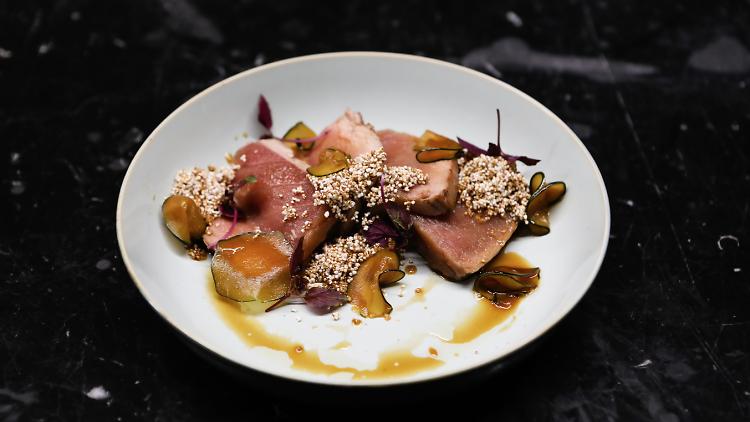 Restaurante, O Carniceiro, Atum com yuzo, soja e curgete