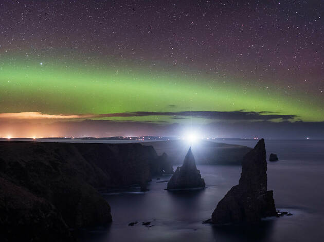 Duncansby Head, Northern Lights, Scottish Highlands