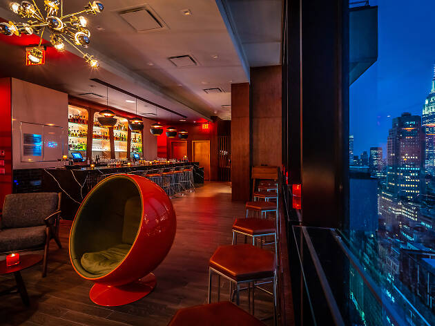 A new James Bond-themed bar in midtown offers skyline views