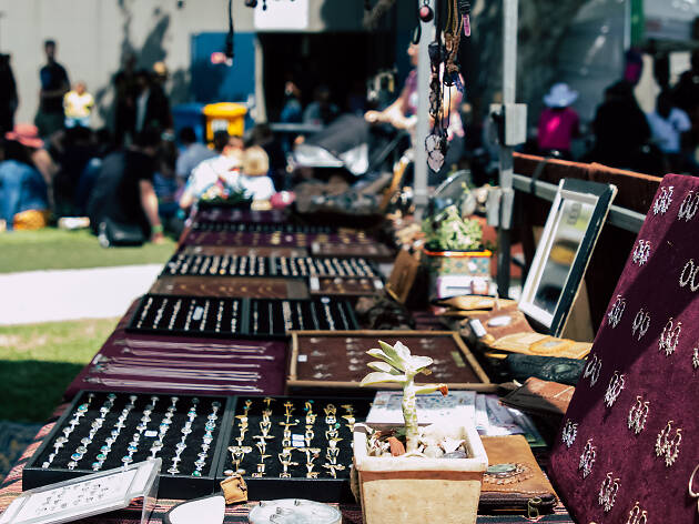 Image of jewellery at a market.