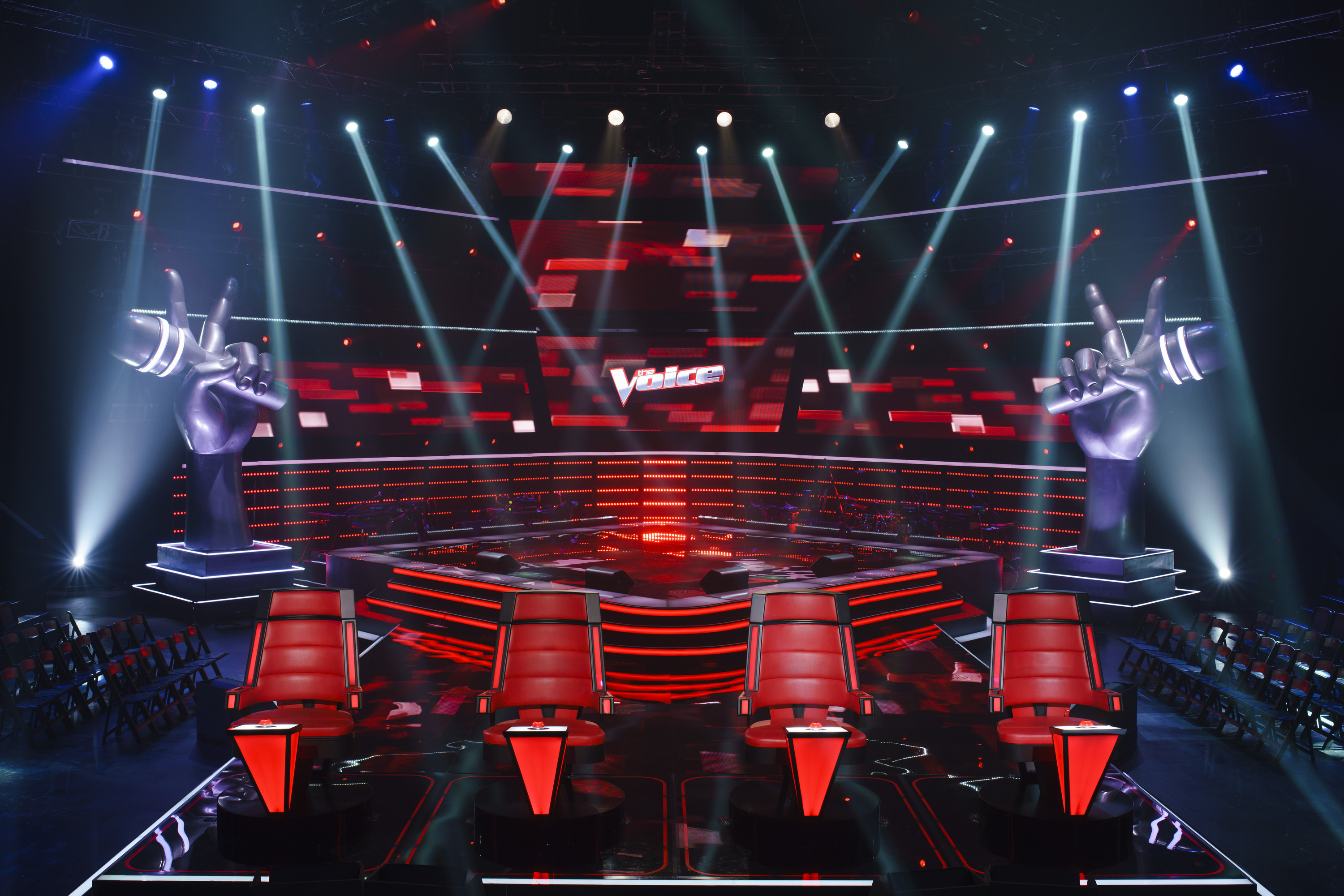 The Voice Australia stage and lighting.