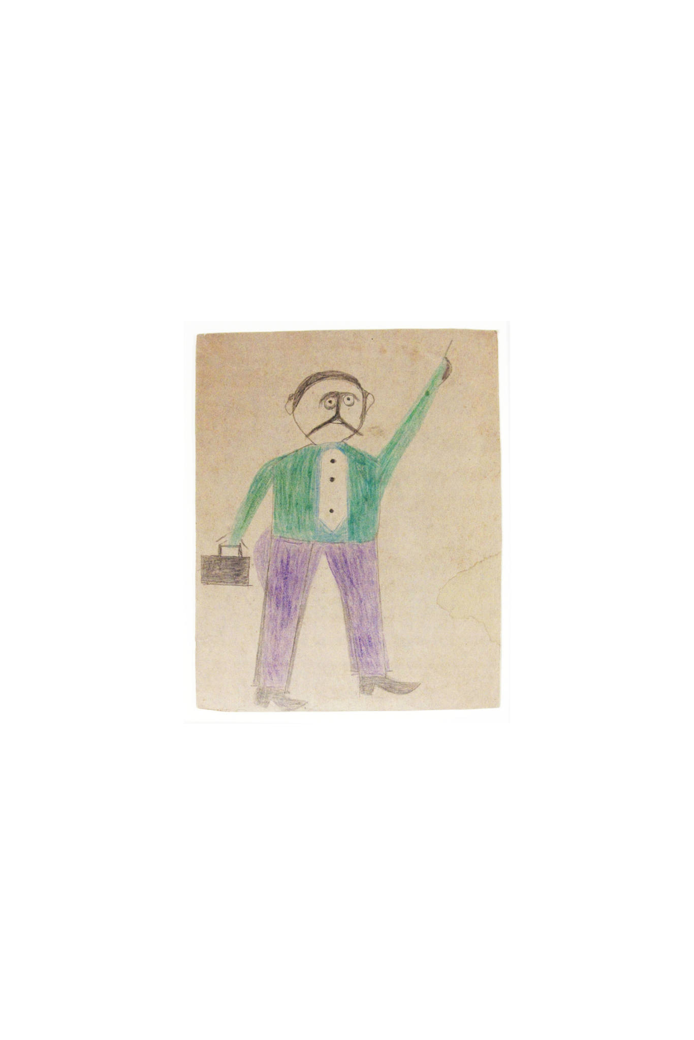 "Bill Traylor, Mexican Man (""He Just Come to Town""), circa 1939–1942"