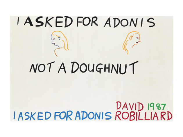 David Robilliard, I Asked for Adonis, Not a Doughnut, 1987