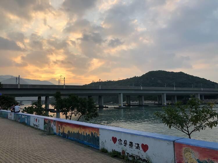 Take a stroll along Tung Chung Waterfront