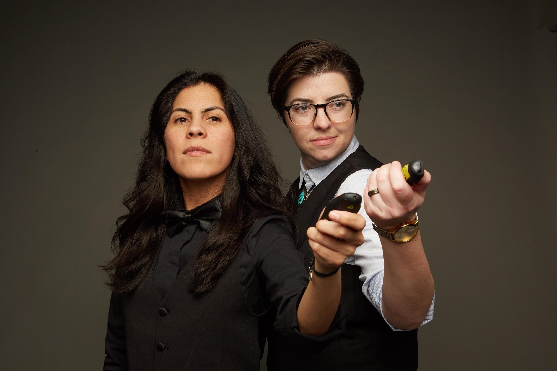 Veronica Garza and Sarah Kennedy