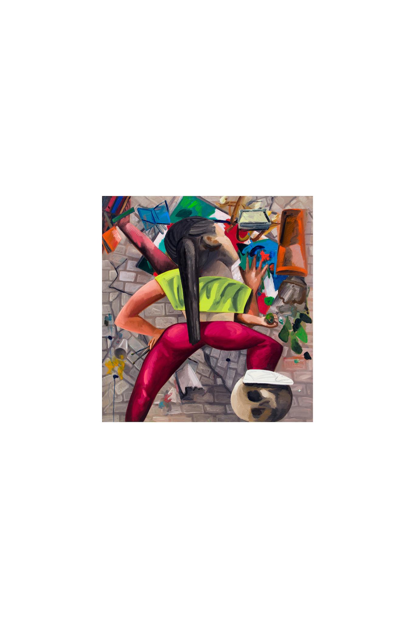 Dana Schutz, Painting in an Earthquake, 2019