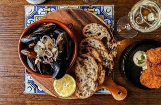 All you can eat mussels at the Exchange