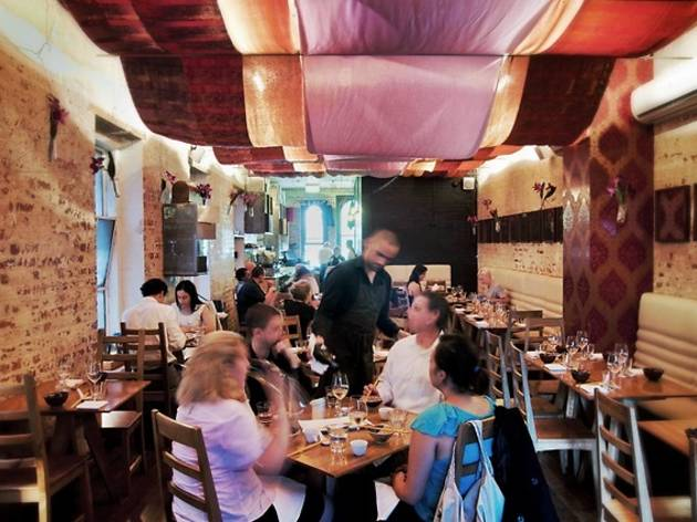 Inside dining at Seamstress