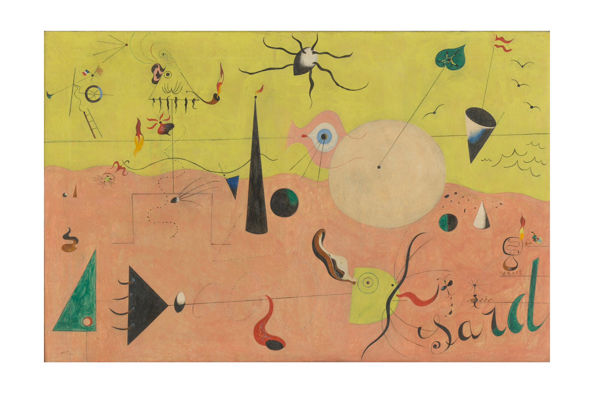 Joan Miró, The Hunter (Catalan Landscape), 1923–24