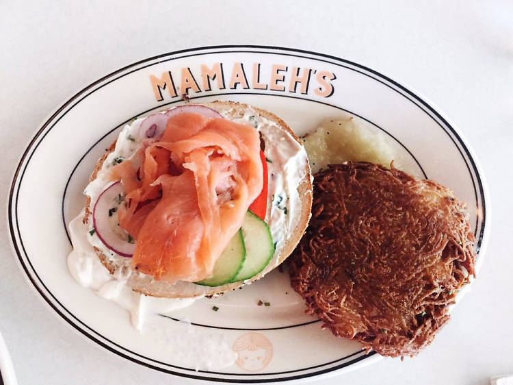 Order your spread from Mamaleh's Delicatessen