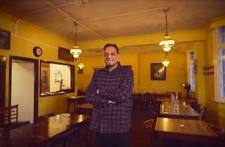 David Joeseph, son of India Club head waiter Joeseph Gyanapraksan, at the India Club. Still from Chocolate Films documentary. 3rd December 2018.