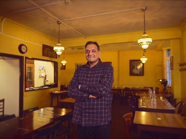 David Joeseph, son of India Club head waiter Joeseph Gyanapraksan, at the India Club. Still from Chocolate Films documentary. 3rd December 2018.