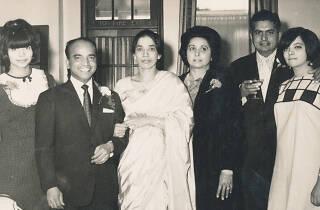 Wedding Day of Joeseph Gyanapraksan (head waiter at the India Club). India Club. 17th September 1966.
