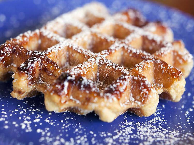 Waffles veganos + superfoods
