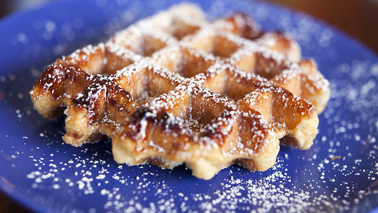 Waffles veganos con superfoods