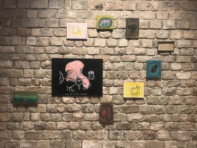 Gustavo Marrone. Instal·lació pictòrica (anys 90)