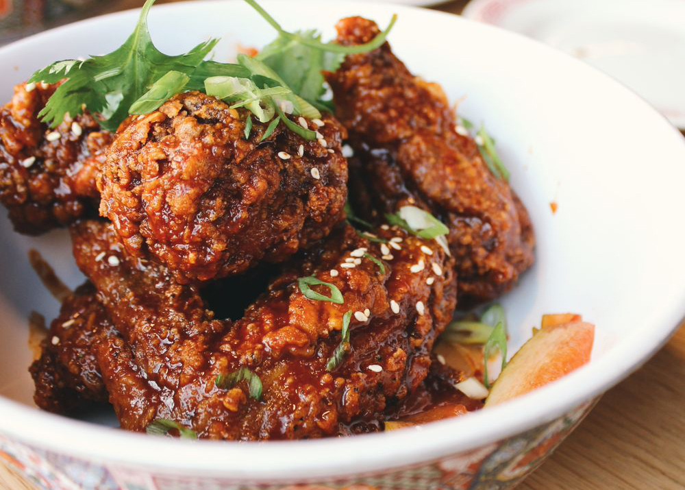 Fried chicken wings at Button Mash in Echo Park