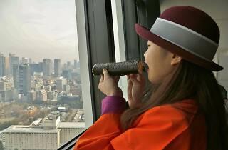 東京タワー メインデッキで節分追儺式と豆まき&恵方巻きの丸かぶり