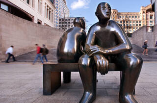 Two Men On A Bench (Giles Penny's Two Men On A Bench © Philip Vile)
