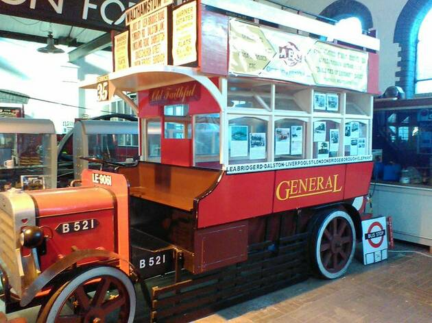 B-type bus at Walthamstow Pumphouse Museum, press 2019