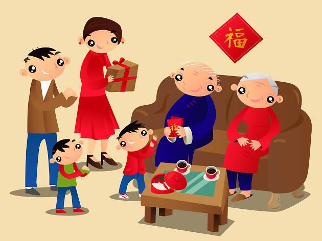 Chinese New Year visiting