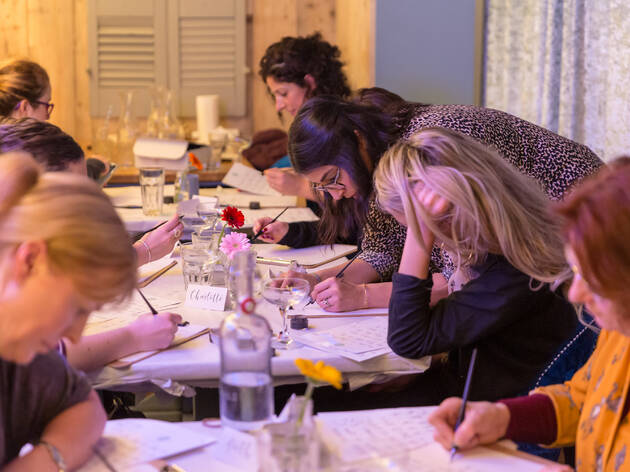 Galentine's Day Modern Calligraphy Workshop
