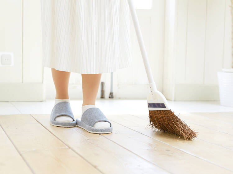 Don't sweep the floor on Chinese New Year