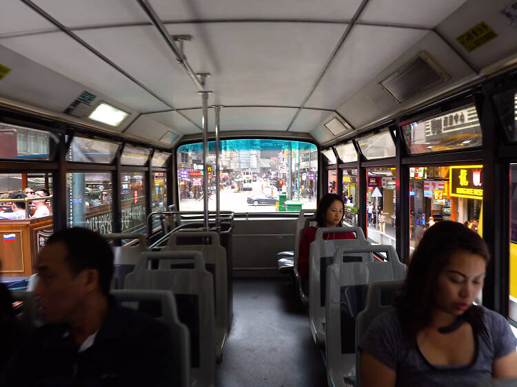 Back of the tram