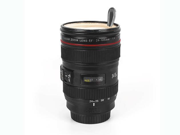 Termo para café en forma de cámara de