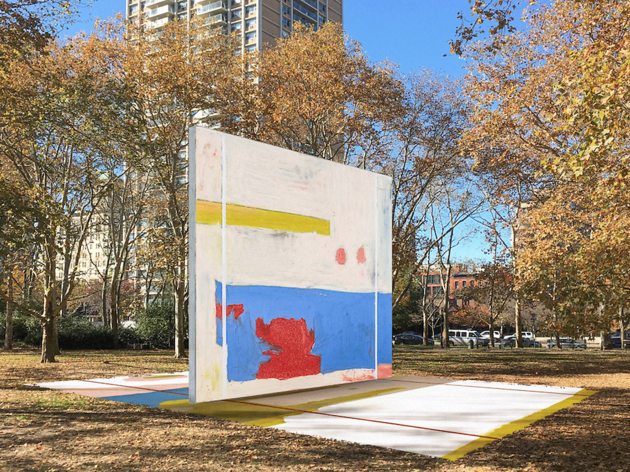 Throw a ball at a piece of art with this new Brooklyn handball court
