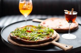 Siracusana Pizza and Margharita Pizza at Palio