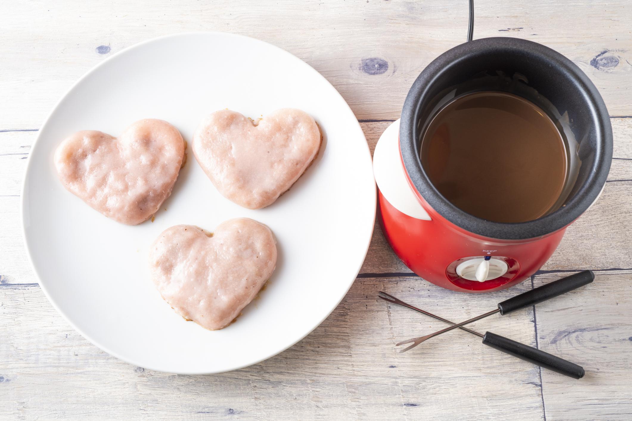 バレンタインジャンボハートチョコ餃子
